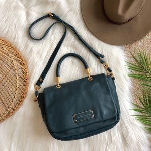 Marc Jacobs Dark Green Top Handle Satchel Bag